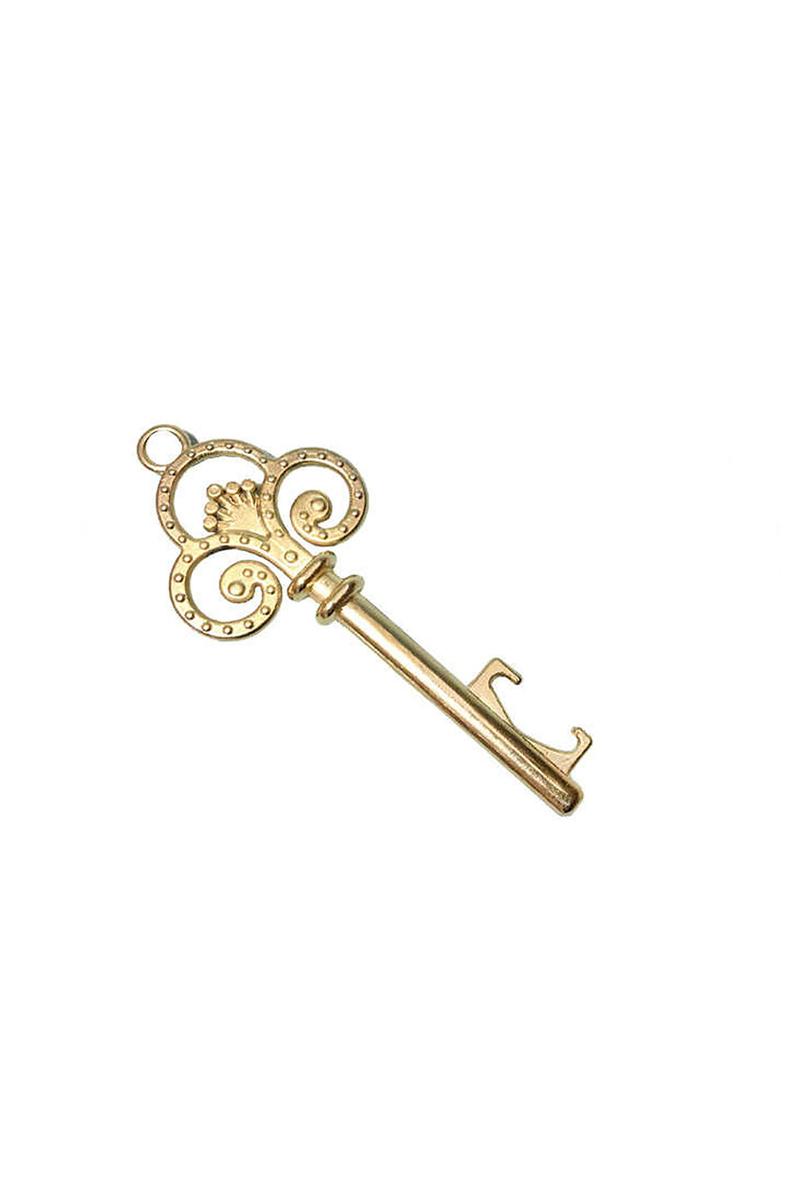 Kral Taçlı Altın Anahtarlık 12,5cm x 4,8cm 10lu