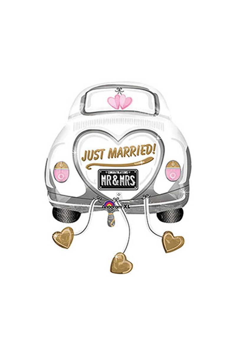 Düğün Arabası Super Shape Folyo Balon 58cm x 79cm 1 Adet