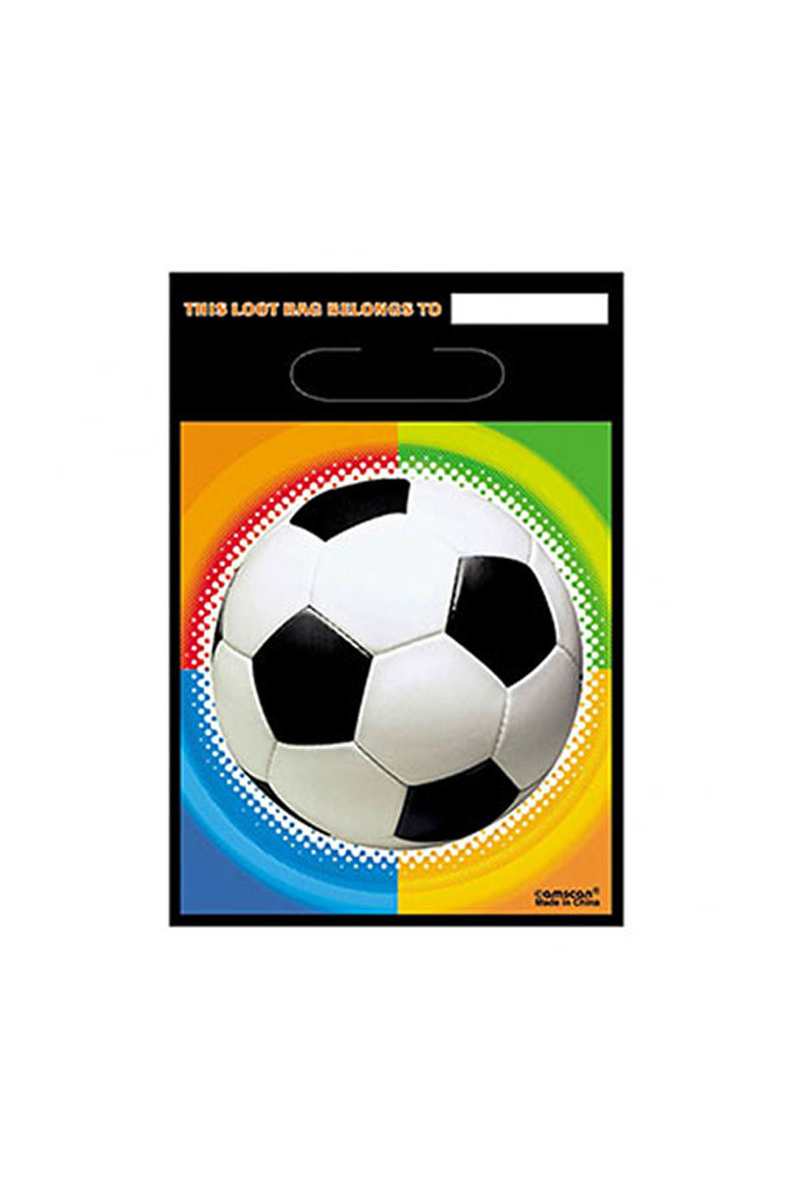 Futbol Plastik Partisi Plastik Parti Çantası 8li
