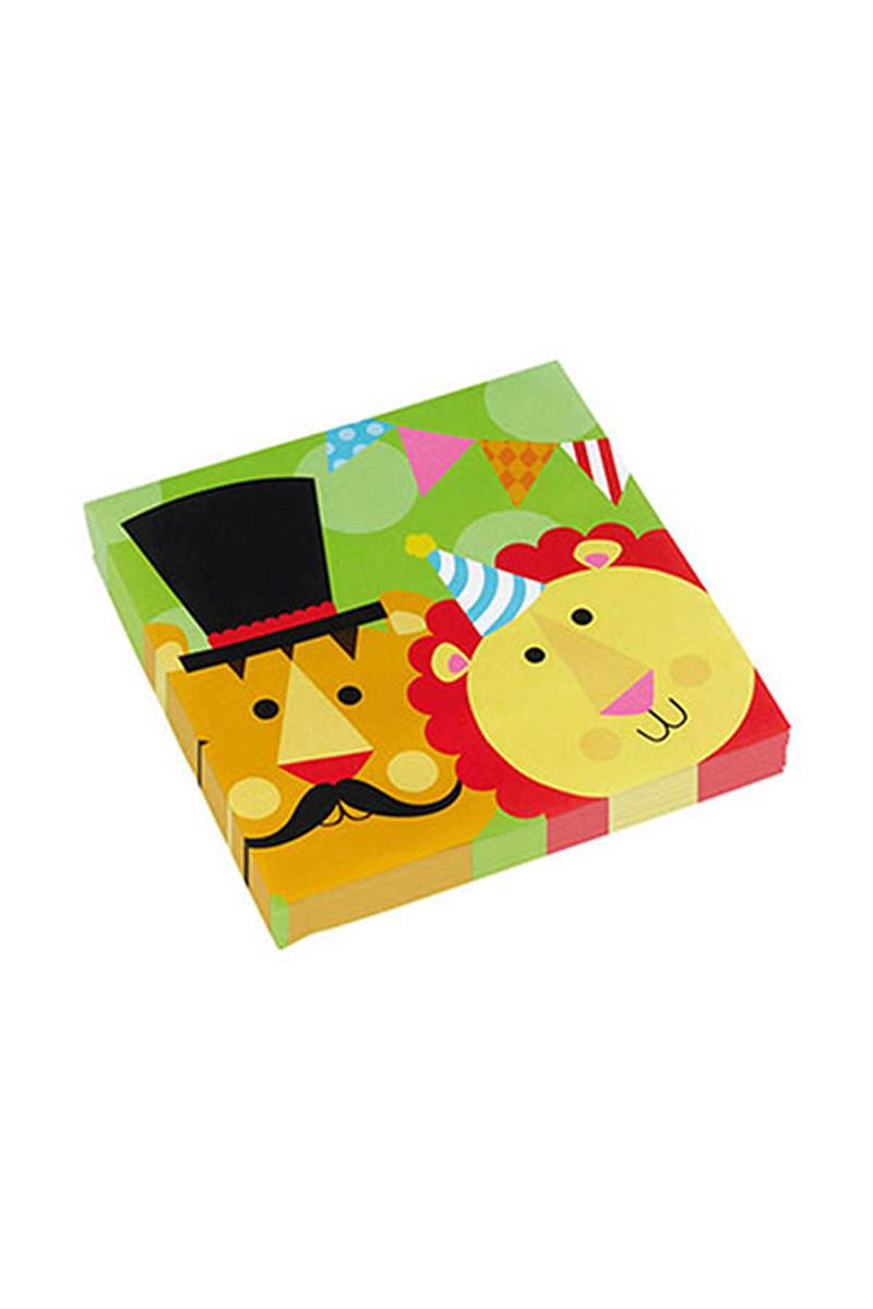 Neşeli Sirk Kağıt Peçete 33x33cm 20li - Thumbnail