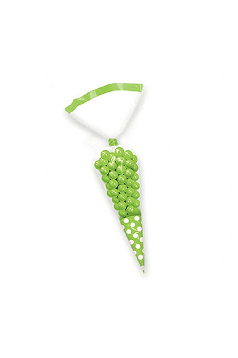 Yeşil Konik Şeker Poşeti 10lu