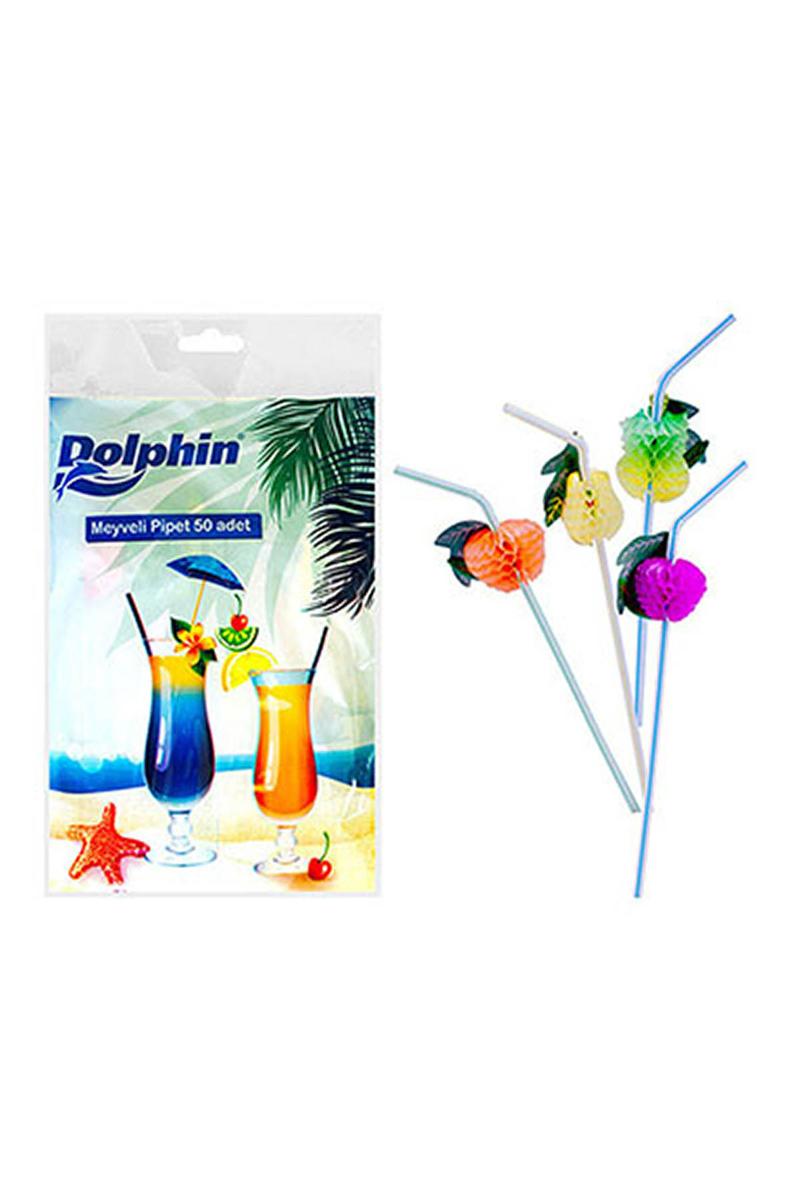 Dolphin Meyveli Pipet 50li
