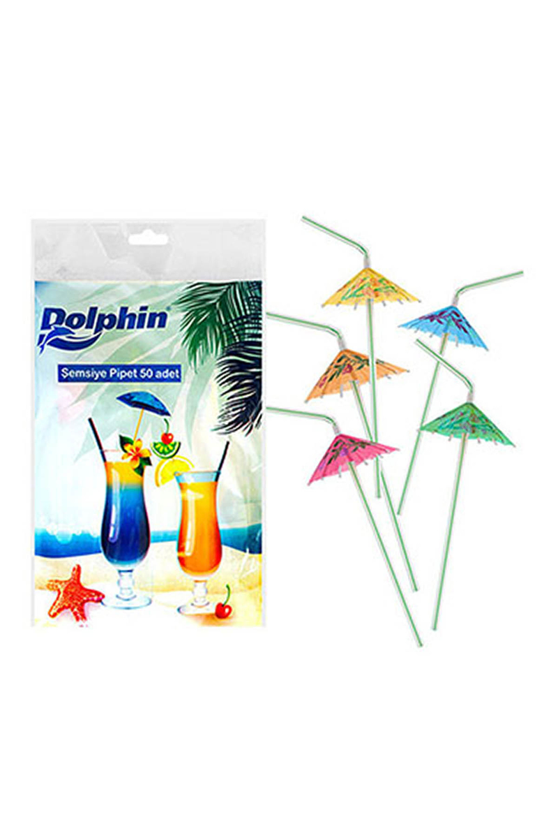 Dolphin Şemsiye Pipet 50li