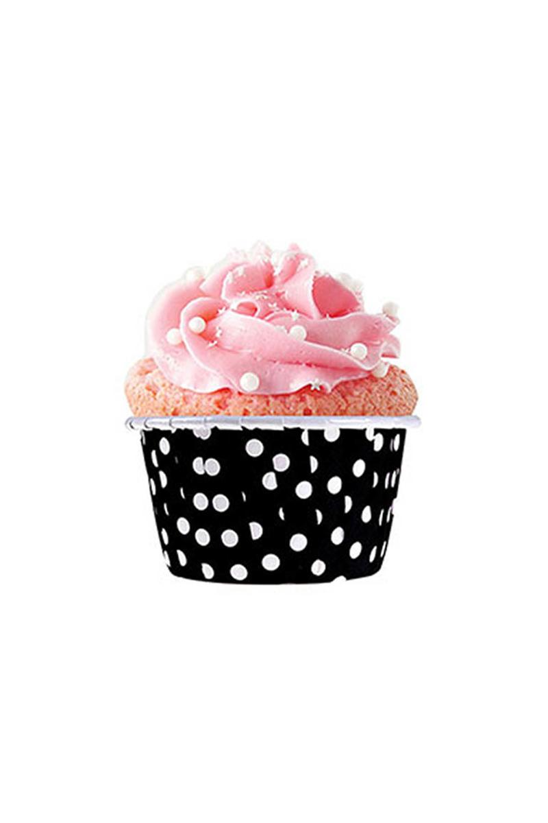 Dolphin Siyah Puantiyeli Muffin Kek Kapsülü 50li - Thumbnail