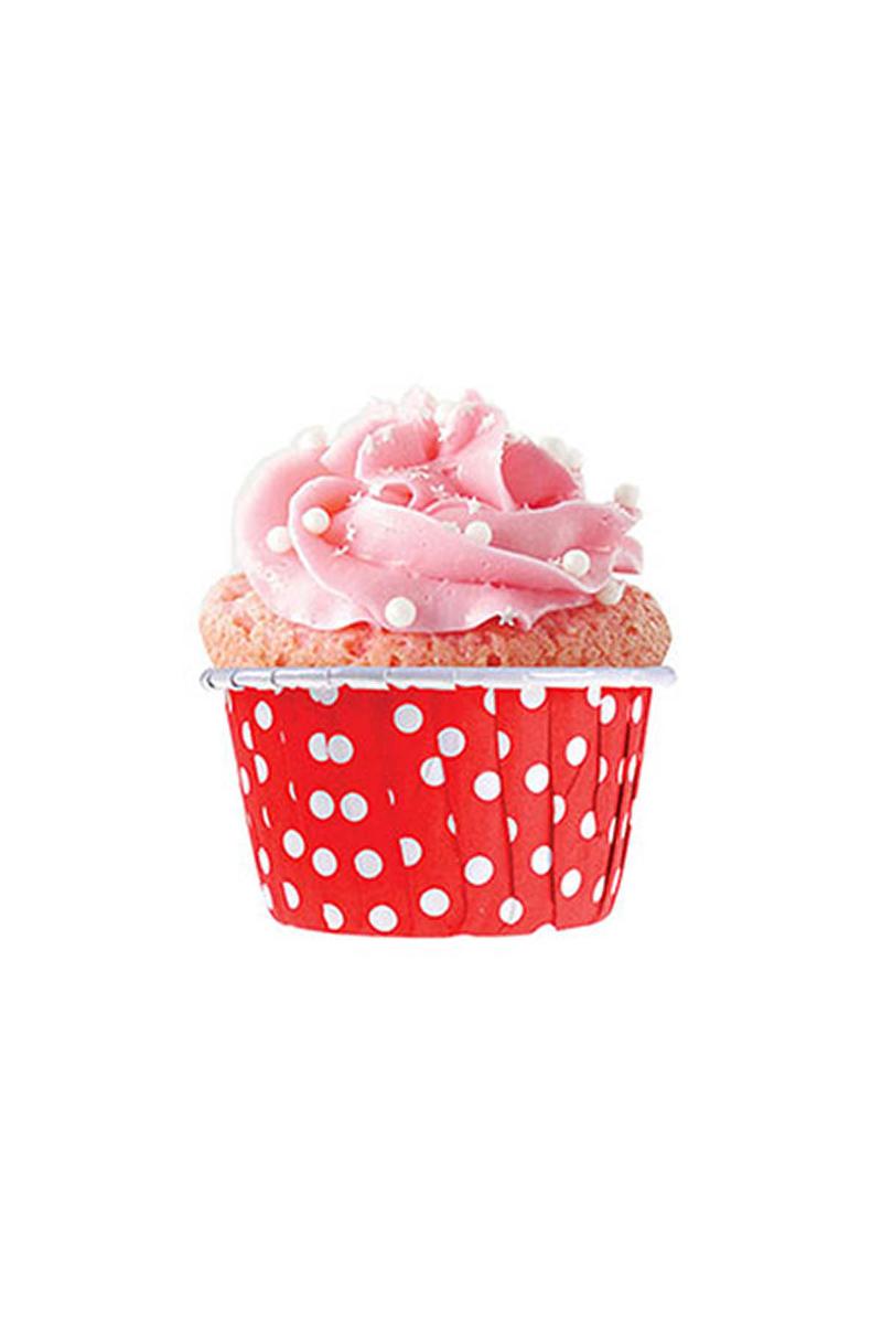 Dolphin Kırmızı Puantiyeli Muffin Kek Kapsülü 50li - Thumbnail