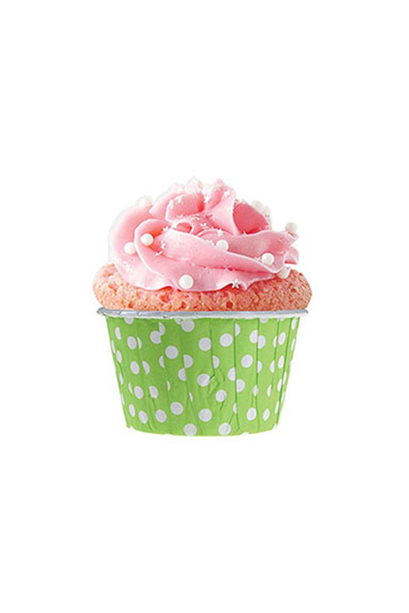 Dolphin Yeşil Puantiyeli Muffin Kek Kapsülü 50li - Thumbnail