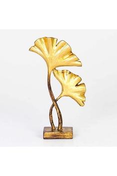 Polirezen Çiçek Biblo Altın Renk 15x5x26cm 1 Adet - Thumbnail