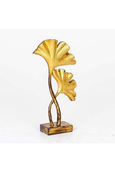 Polirezen Çiçek Biblo Altın Renk 15x5x26cm 1 Adet