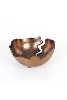 Metal Dekoratif Çiçeklik Bakır Renk 26x13cm 1 Adet - Thumbnail