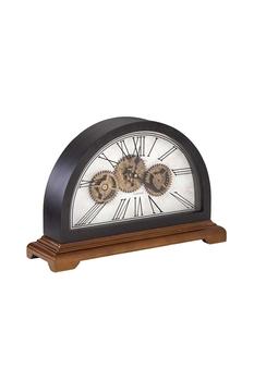 Ahşap Çarklı Masa Saati Romen Rakamlı Bakır Renk 46x135x30cm 1 Adet - Thumbnail