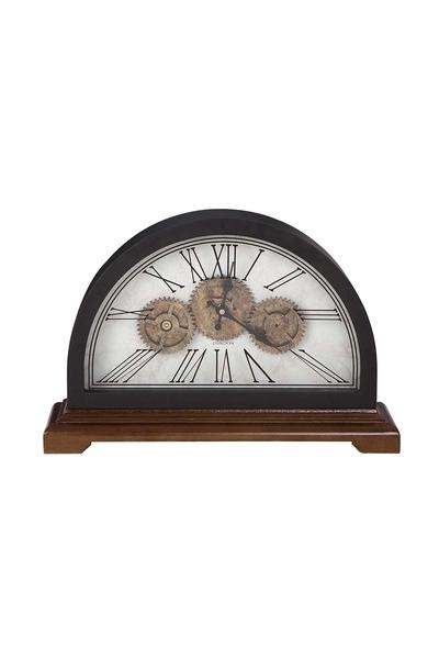 Ahşap Çarklı Masa Saati Romen Rakamlı Bakır Renk 46x135x30cm 1 Adet