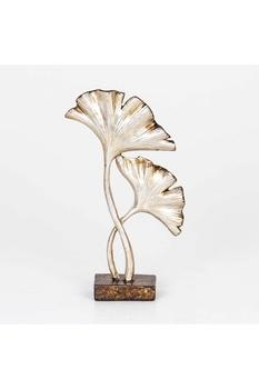 Metal Çiçek Dekoru Gümüş Renk 15x5x26cm 1 Adet - Thumbnail