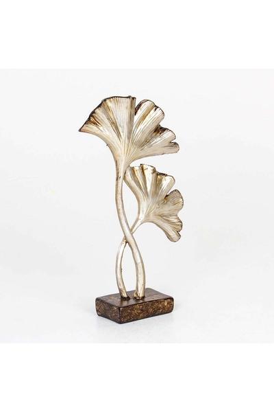 Metal Çiçek Dekoru Gümüş Renk 15x5x26cm 1 Adet