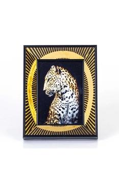 Desenli Fotoğraf Çerçevesi Siyah-Altın Renk 13x18cm 1adet - Thumbnail