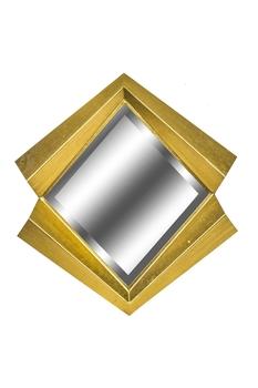 Metal Çerçeveli Dörtgen Ayna Dore Renk 64cm 1 Adet - Thumbnail