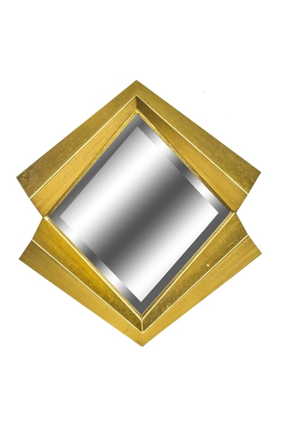 Metal Çerçeveli Dörtgen Ayna Dore Renk 64cm 1 Adet
