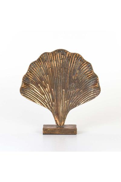 Metal İstiridye Biblosu Naturel Renk 36,5x38,5cm 1 Adet