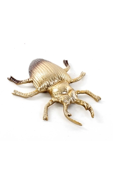 Metal Böcek Biblosu Altın Renk 31x25x6cm 1 Adet - Thumbnail