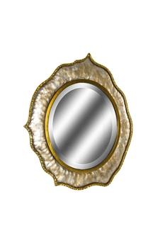 Metal Çerçeveli Ayna Altın Renk 76x78cm 1 Adet - Thumbnail