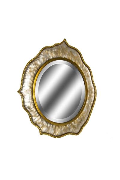 Metal Çerçeveli Ayna Altın Renk 76x78cm 1 Adet