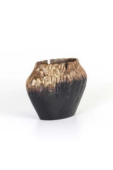 Metal Oval Vazo Bakır-Siyah Renk 31x1422cm 1 Adet - Thumbnail