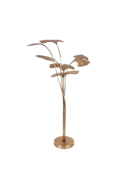 Metal Yaprak Dekor Süs Altın Renk 54x100cm 1 Adet