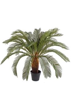 Yapay Palmiye Ağacı Cycas Yeşil Renk 100cm 1 Adet - Thumbnail