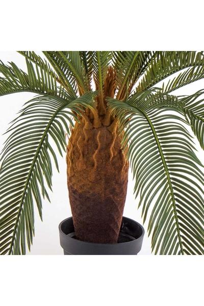 Yapay Palmiye Ağacı Cycas Yeşil Renk 100cm 1 Adet