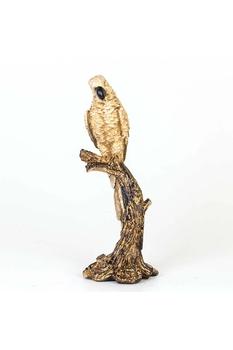 Polirezen Papağan Krem Renk 18x15x45cm 1 Adet - Thumbnail