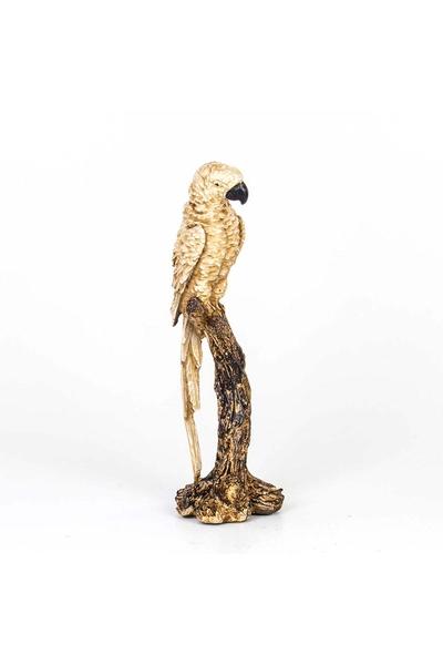 Polirezen Papağan Krem Renk 18x15x45cm 1 Adet