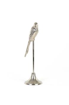 Metal Ayaklı Papağan Biblosu Gümüş Renk 14x47cm 1 Adet - Thumbnail