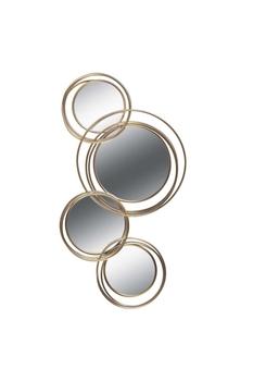 Metal Çerçeveli Ayna Altın Renk 4lü 55x94cm 1 Adet - Thumbnail