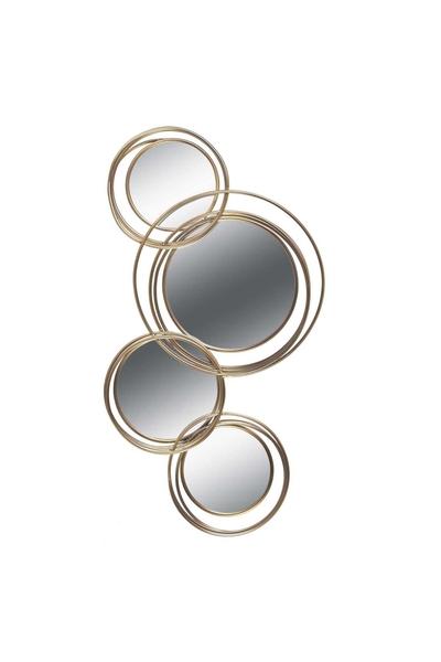 Metal Çerçeveli Ayna Altın Renk 4lü 55x94cm 1 Adet