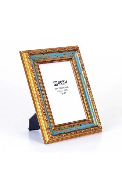 Fotograf Çerçevesi Yaldızlı-Mavi Renk 23,5x30 1 Adet
