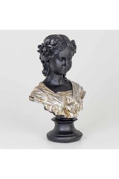 Kadın Büstü Gümüş Renk 26*17*42cm 1 Adet - Thumbnail