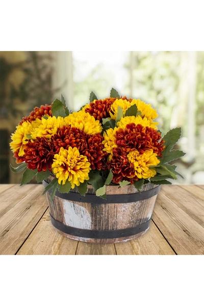 Ahşap Çiçeklik Naturel Renk 19x10cm 1 Adet