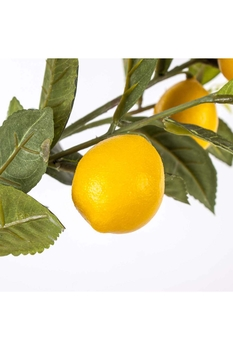 Yapay Saksıda Limon Ağacı Yeşil Sarı Renk 120cm 1 Adet - Thumbnail