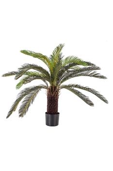 Yapay Saksıda Palmiye Ağacı Yeşil Renk 85cm 1 Adet - Thumbnail