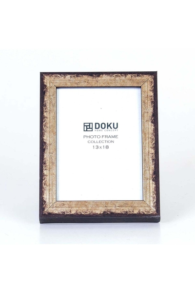 Ahşap Yaldızlı Fotoğraf Çerçevesi Kahverengi 13x18cm 1 Adet