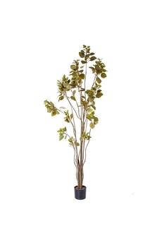 Yapay Coggyria Ağacı Yeşil Renk 90cm 1 Adet - Thumbnail