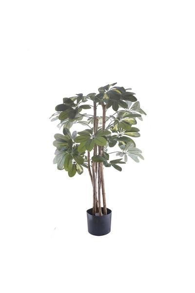 Yapay Seflera Schefflera Ağacı Yeşil Renk 90cm 1 Adet