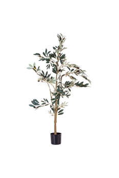 Yapay Zeytin Ağacı Kahverengi 120cm 1 Adet - Thumbnail