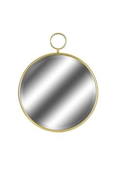 Metal Dekoratif Yuvarlak Ayna 62x77cm 1 Adet - Thumbnail