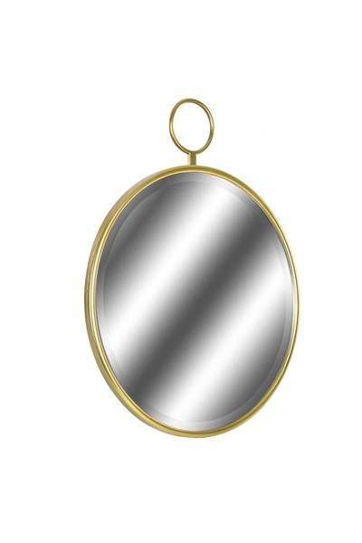 Metal Dekoratif Yuvarlak Ayna 62x77cm 1 Adet