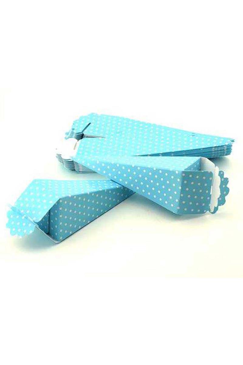 Külah Karton Puantiyeli Mavi Pakette 50 Adet