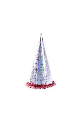 Gümüş Holografik Büyük Yılbaşı Şapkası