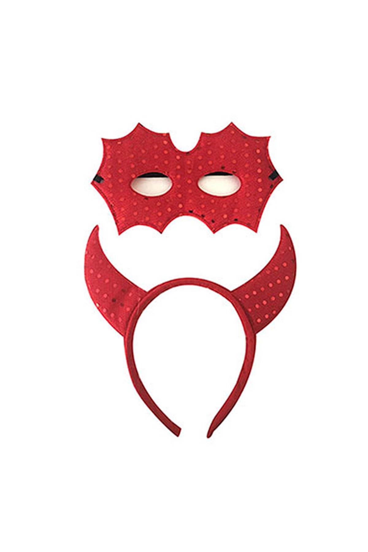 Maskeli Kırmızı Şeytan Taç