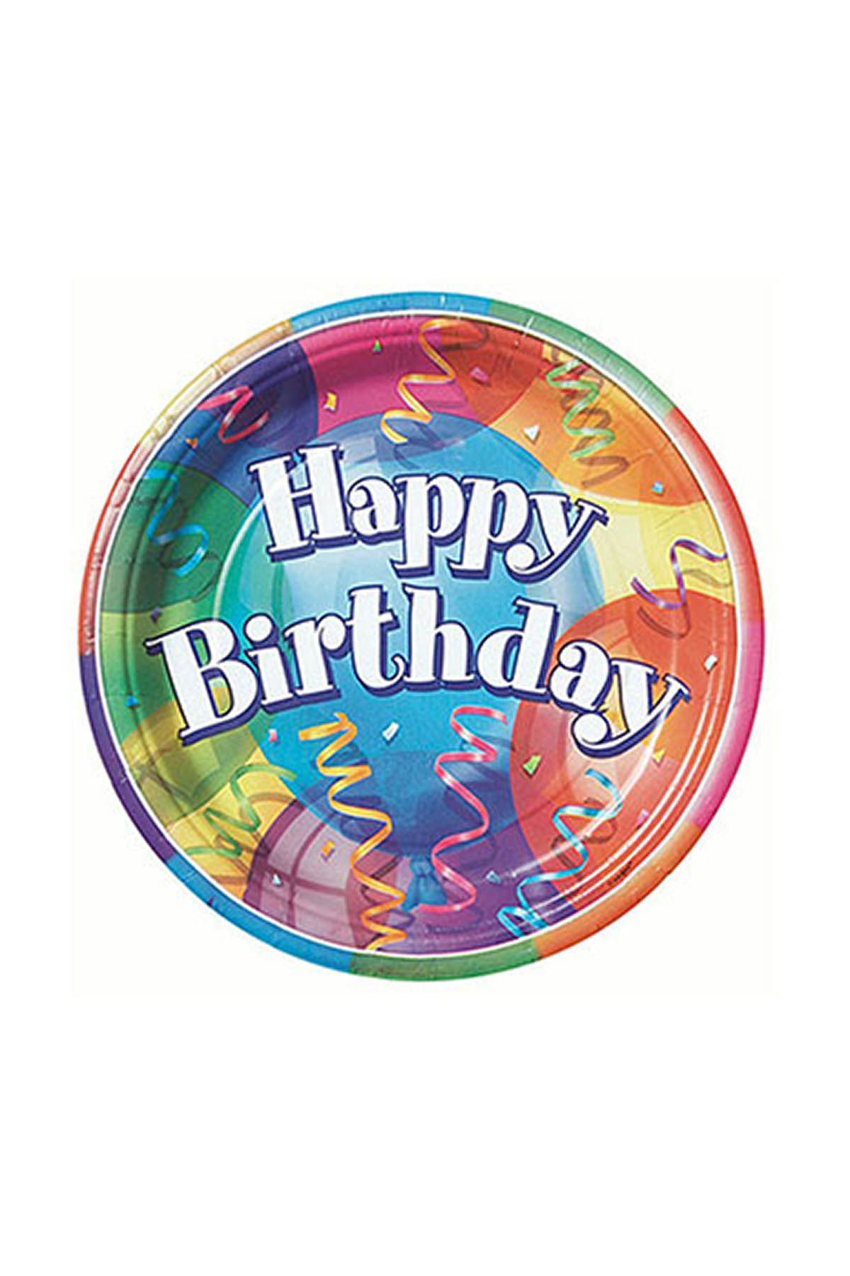 Happy Birthday Balonlu Karton Tabak