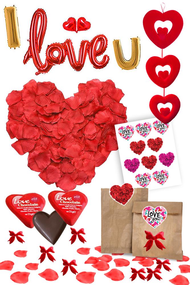 I Love You Sevgiliye Sürpriz Parti Seti