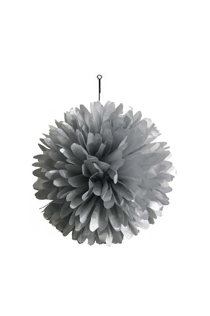 Gümüş Ponpon Asma Süs 35cm 1 Adet